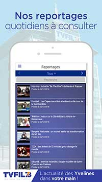 application, écran des reportages