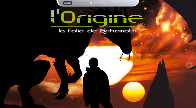 Un site internet pour mon roman : l'Origine, la folie de Béhémoth