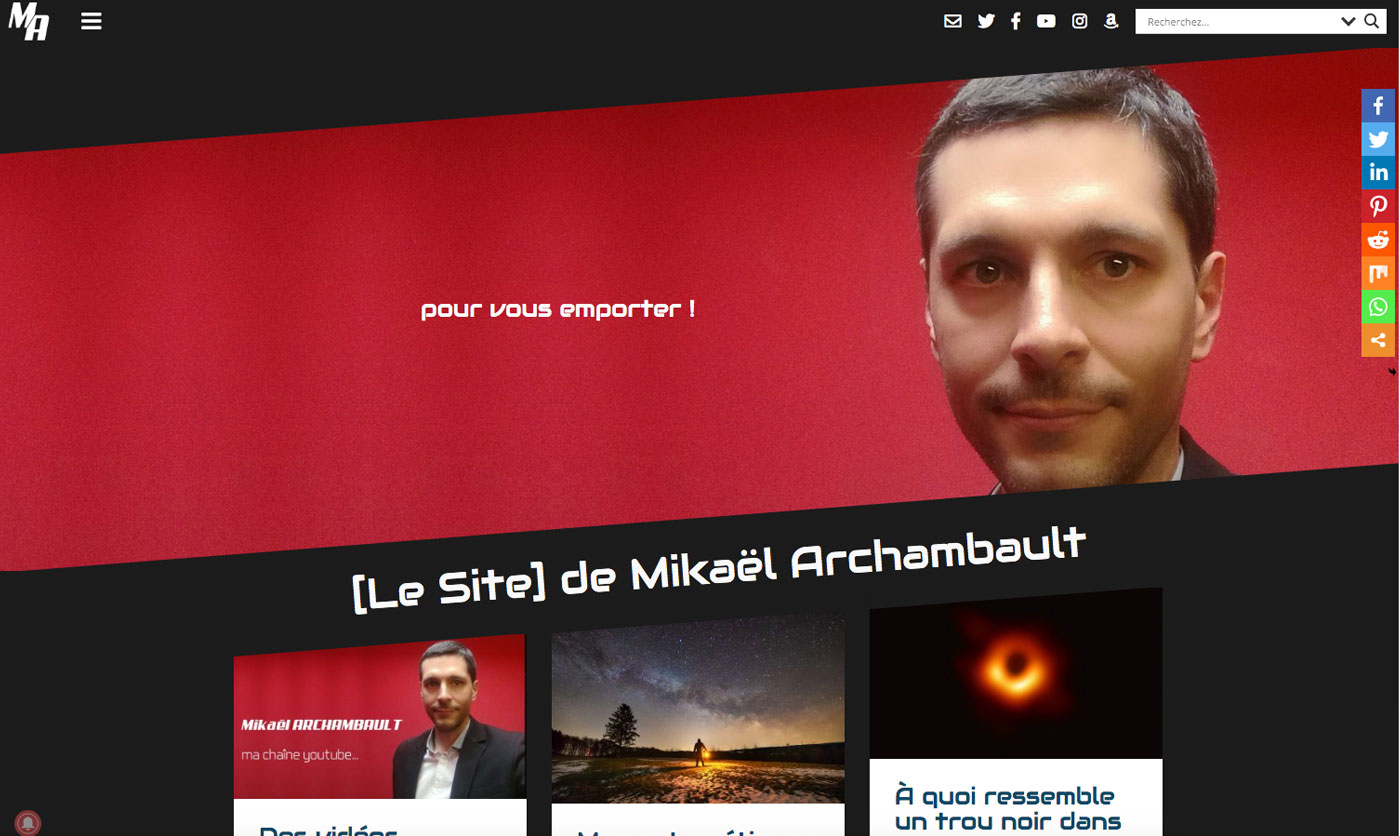 site web mikael-archambault.fr (version 2019)