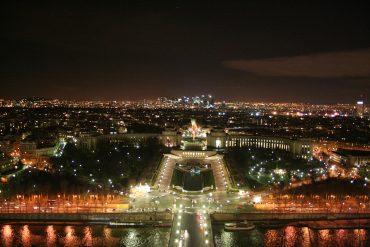 Trocadéro, la nuit.